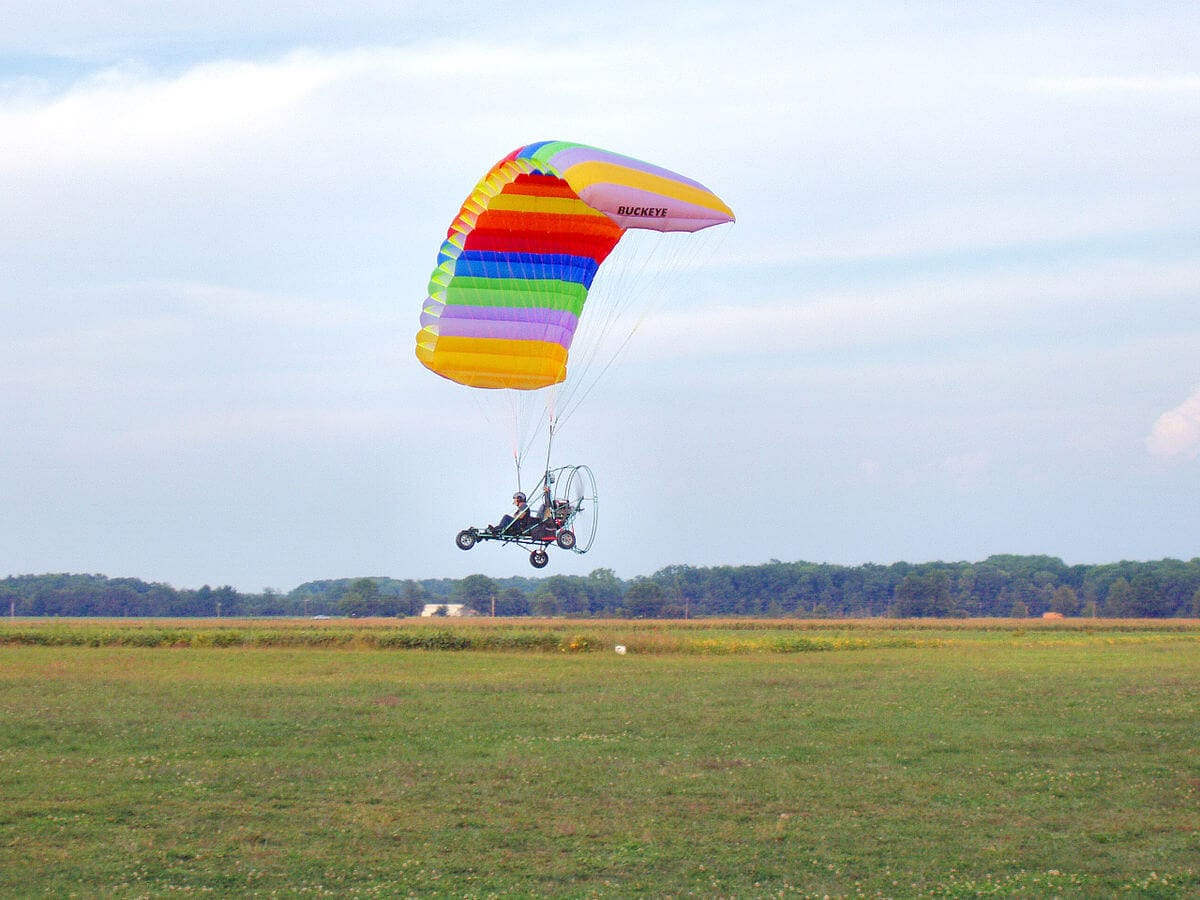 полет на аерошуте