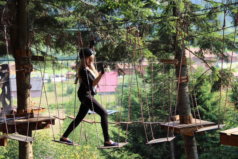 парк веревочный в Карпатах